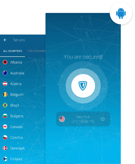 ZenMate VPN for Android activated on Android devices, namely phone and tablet