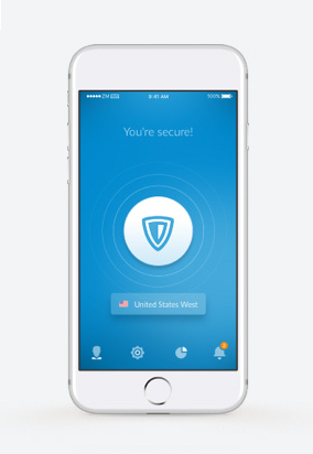 ZenMate VPN for iOS activated on iOS devices, namely iPhone and tablet