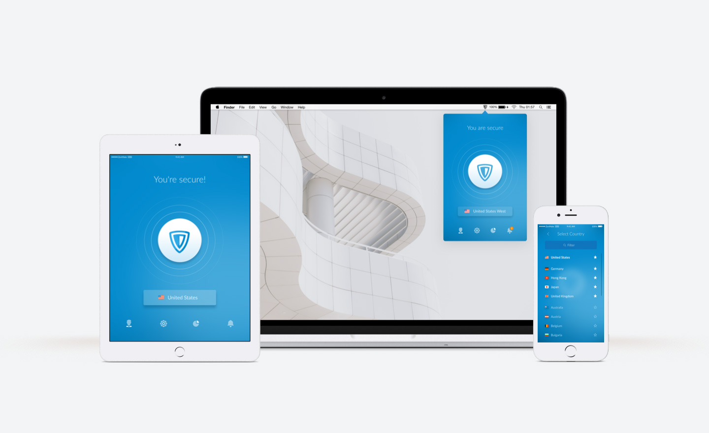 Electronic business devices with ZenMate VPN client installed